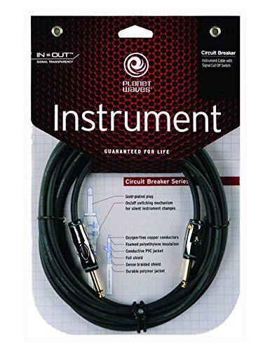 Planet Waves PW-AG-20 Cable para Instrumentos con Interruptor, 6.1 M, Negro: Amazon.es: Instrumentos musicales