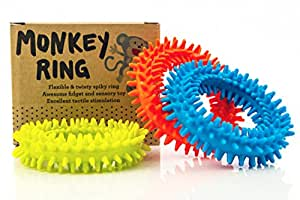 Spiky Sensory Ring / Bracelet Fidget Toy (Pack of 3) - BPA/Phthalate/Latex-Free - Fidget Toys / Sensory Toys
