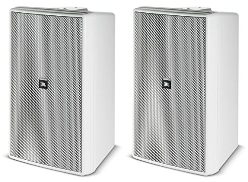 - JBL Control 30-WH Speaker 3 Way Indoor Outdoor 10 Inch Woofer High Fidelity High Output System- PRICED AND SOLD AS A PAIR