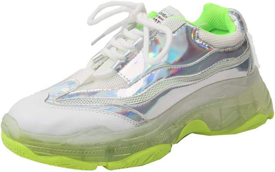 SHOES-HY Zapatillas de Tenis Air Running para Mujer Zapatillas de Deporte Cruzadas Ligeras Entrenamiento Deporte Gimnasio Zapatillas Deportivas,Fluorescentgreen,36: Amazon.es: Jardín