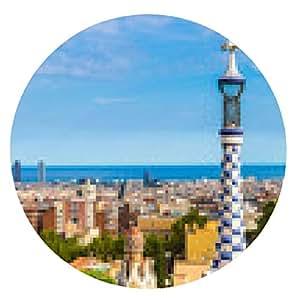 alfombrilla de ratón Parque Güell en Barcelona, España - ronda - 20cm