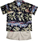 RJC Boys 1950s Automobilia 2pc Set in Black - 2T