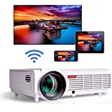 Gzunelic 4200 lumens Android Wifi 1080p Video Projector LCD LED Full HD Theater Proyector with Bluetooth Wireless Mirror to Smart Phones by Airplay or Miracast Ideal for Home Entertainment …
