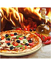 """Only Pizza Stone with Thermarite for Best Crispy Crust. Durable, Certified Safe. Good in Ovens & Grills. Free 4""""x5"""" Scraper + Bonus Recipe Ebook."""