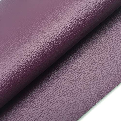 - ZAIONE Solid Lichee Faux Leather by The Half Yard Width 54