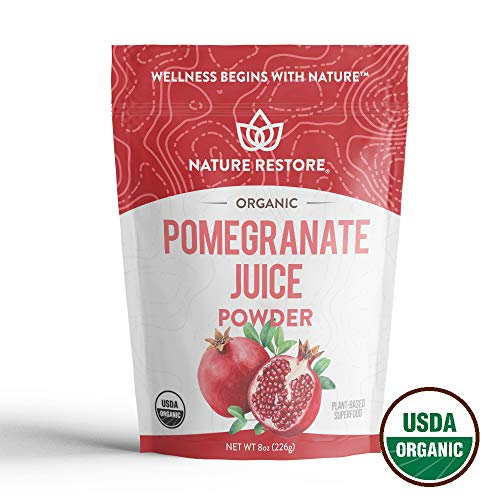 Nature Restore USDA Certified Organic Pomegranate Juice Powder, Non-GMO (8 Ounces)