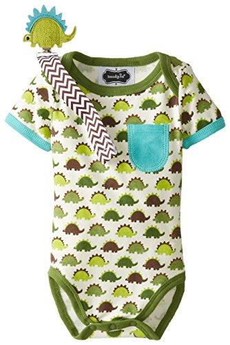 Mud Pie Baby-Boys Newborn Dino Crawler and Pacy Clip Set, Green, 0-6 Months (Mud Pie Babyboy)