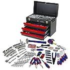 WORKPRO Mechanics Tool Set with 3-Drawer Heavy Duty Metal Box (408 Piece) W009044A