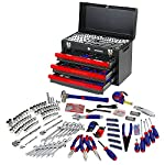 WORKPRO Mechanics Tool Set with 3-Drawer Heavy Duty Metal Box (408 Piece) W009044A
