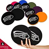 HomeGym 4U Gliding Discs Set - Dual Sided Abdominal Sliders for Carpet or Hardwood Floor - Greatest Core Trainer Fitness Equipment for Full Body Workout, Crossfit, Cardio Training, Six Pack