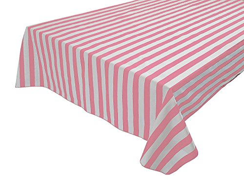 Vpang 2 Pcs Striped Plastic Print Tablecloths Disposable Table Cover Thickened Rectangle Tablecover, Kitchen Picnic Wedding Birthday Party Table Covers, 54