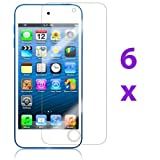 eTECH Collection 6 Pack of Anti-Glare & Anti-Fingerprint (Matte) Screen Protectors for Apple iPod Touch 5th Generation