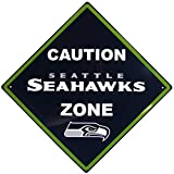 NFL Seattle Seahawks Caution Wall Sign Plaque, 14″
