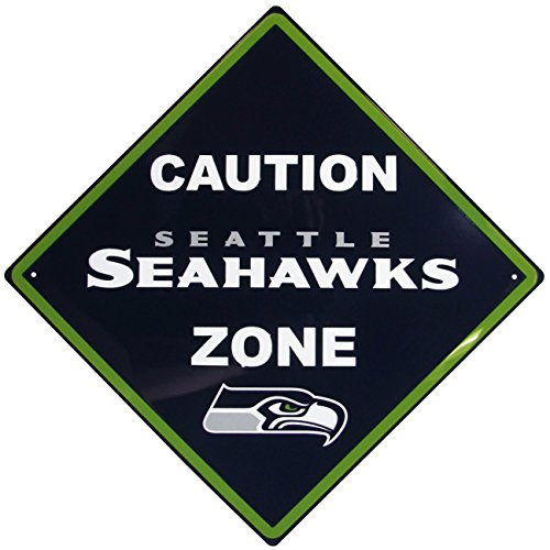 NFL Seattle Seahawks Caution Wall Sign Plaque, 14