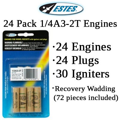 Estes 1/4A3-2T Model Rocket Engines (24 each)