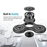 Maxboost Tri-Spinner Fidget Spinner Focus Toy Stress Reducer for Kid and Adult [Premium Bearing] Easy Flick, Spin single/both Hands Finger Prime Figit Toys Perfect For ADHD, Anxiety, Autism