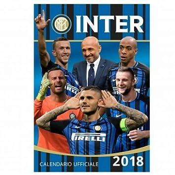 Inter Milan Calendrier.Officiel Inter Milan 2018 Soccer Calendrier Amazon Fr