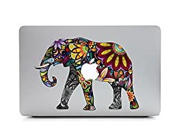 iCasso Animal Removable Vinyl Decal Sticker Skin for Apple Macbook Pro 11/13/15 inch Apple Macbook Air 11/12/13 inch Unibody 13 Inch Laptop (Elephant_3)