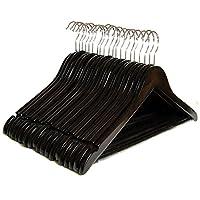 Clutter Mate Wood Clothes Hangers Wooden Coat Hanger 20-Pack
