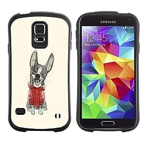 Suave TPU GEL Carcasa Funda Silicona Blando Estuche Caso de protección (para) Samsung Galaxy S5 / CECELL Phone case / / cute puppy sweater sketch drawing /
