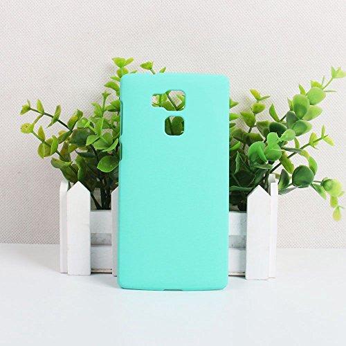Guran® Plástico Hard Funda Cascara para Vernee Apollo Lite Smartphone Bumper PC Case Cover-negro verde