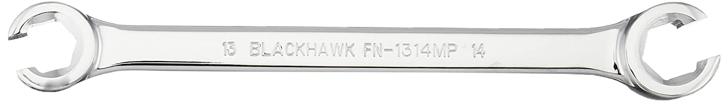 Blackhawk By Proto FN-1314MP 6 Point Flare Nut Wrench, 13 by 14mm, Full Polish Finish
