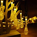 LiPing 6M 30 ABS LED Drop shape Waterproof Outdoor Garden Camping Hanging String Light Warm White- Soothing DécorationElegant Rope Light Suitable for Christmas, Weddings. (Yellow)