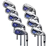 MAZEL Same Swing Golf Iron Sets for Men,4-SW(9 Pieces),Stiff Flex,Right Handed,Casting