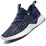 Men Women Running Shoes Air Cushion Sports Trainers Shock Absorbing Sneakers for Walking Gym Jogging Fitness Athletic Casual(Blue/9607,9 UK)