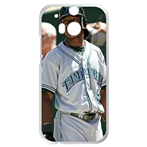 MLB&HTC One M8 White Tampa Bay Devil Rays Gift Holiday Christmas Gifts cell phone cases clear phone cases protectivefashion cell phone cases HABC605584904