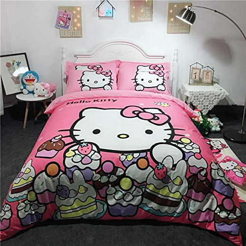 fun Hello Kitty full size bedding set