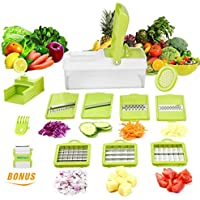 WEINAS Vegetable Cutter, Chopper, Grater & Julienne Slicer with Seven Interchangeable Stainless Blades