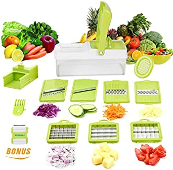 WEINAS Vegetable Cutter, Chopper, Grater & Julienne Slicer