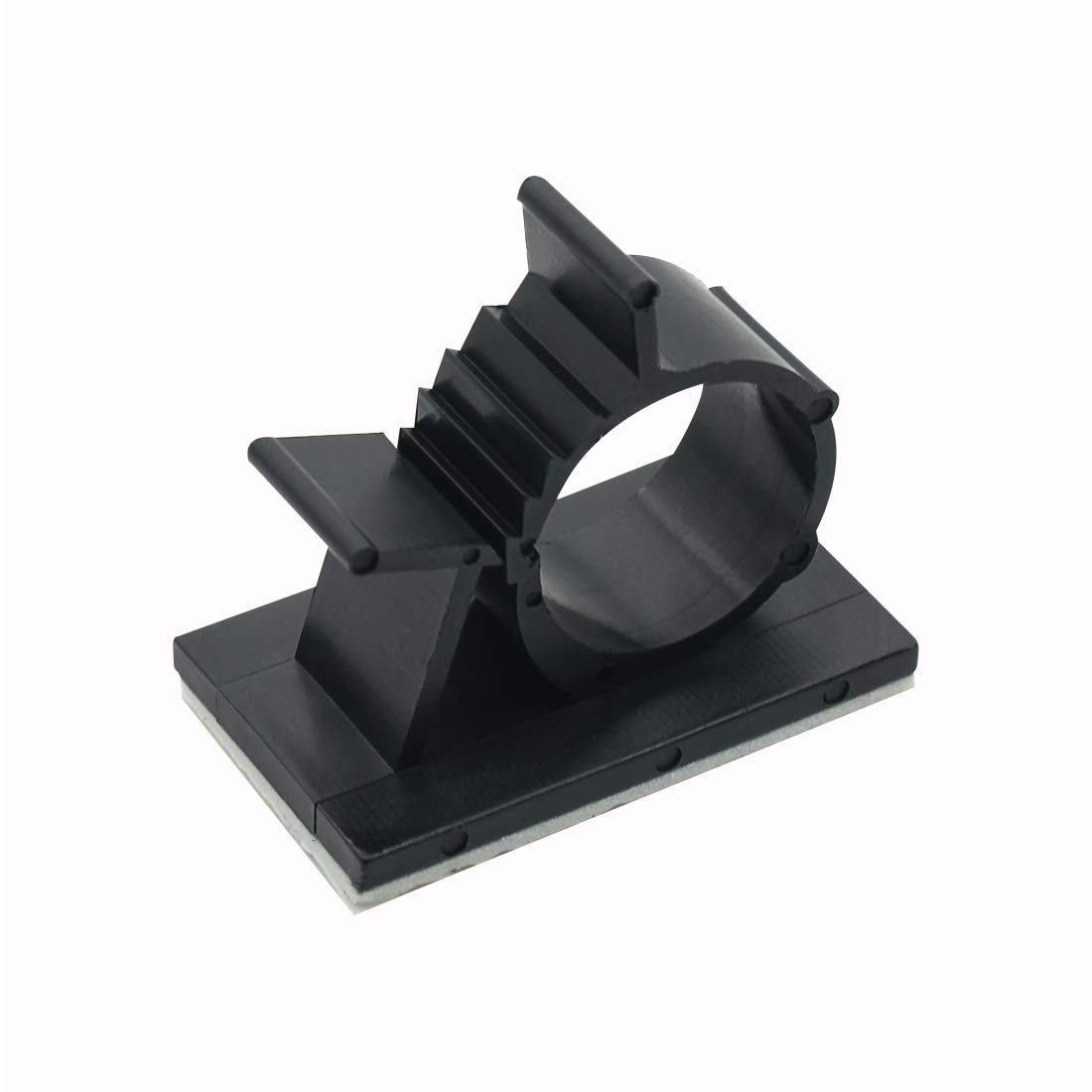 25 Pack Black Adjustable Cable Clips Self-Adhesive Wire Holder Cable Organizer Adhesive Wire Clamps