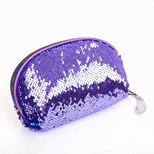 Mermaid Sequin Cosmetic Bag Magic Makeup Pouch Fashion Color Changing Makeup Bags DIY Reversible Sequins Handbag Glitter Pencil Case (color4)
