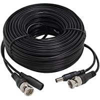 InstallerCCTV 100ft All-in-One Video HD-TVI HD-CVI AHD Analog 1080p Premade Cable for CCTV Security Cameras - Black