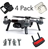 Fstop Labs Accessories Bundle Set For DJI Spark Combo Lens Cap Hood Sun Shade Camera Cover Protector Landing Gear Guard Protective Bubble Remote Controller Clip Accessory By (4 pack)