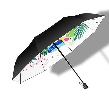 LXY Sombrilla para El Sol Sombrilla para El Paraguas Sombrilla para Mujer Sombrilla Doble para El