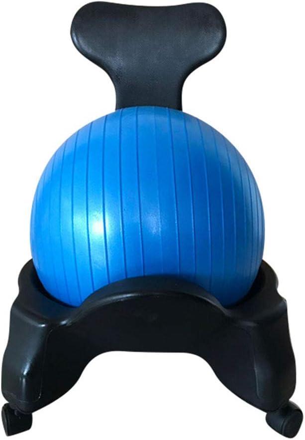 Yoga Base Ball Chair (Excluyendo El Yoga Bola) Silla Bola del Balance Deportes para Office Sala Fitness Estándar Universal Tamaño Carga 250Kg (para 55Cm Yoga Bola)