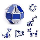 Leewa Magic Snake Cube Twist Puzzle, Snake Toys Kids Magic Sets for Children (C -2 Pack)