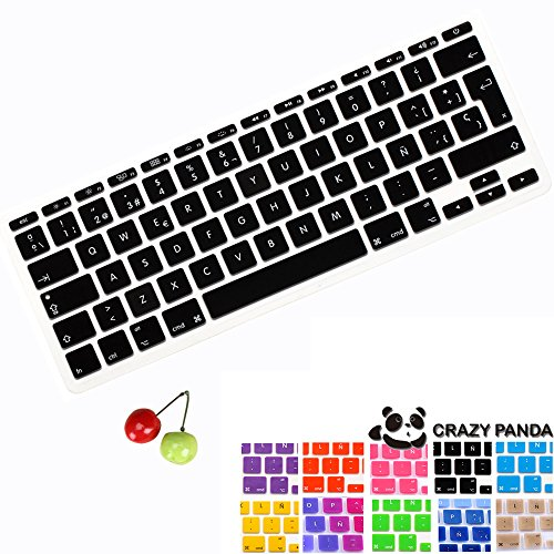 Crazy Panda Spanish Version Premium Ultra Thin TPU Keyboard Protector Cover Skin for iMac and MacBook Pro 13