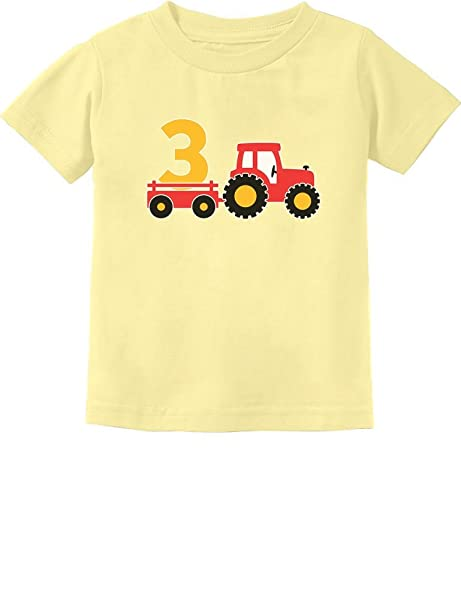 3rd Birthday Gift Construction Party 3 Year Old Boy Toddler Infant Kids T Shirt
