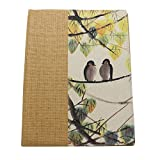 IDS Hardcover Sketch Book with Spiral Bound, (Bird) Fine Linen Textured, 8.5''X11'' 50 sheets, Blank Paper Sketch Book for Kids, the artists and the students