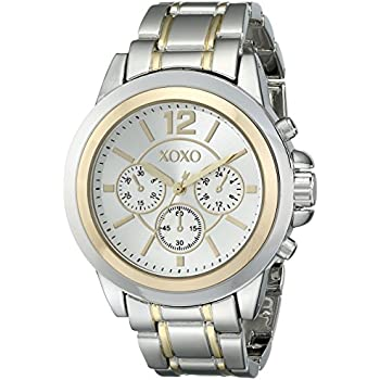 Xoxo women 39 s xo5567 two tone bracelet analog watch watches for Watches xoxo