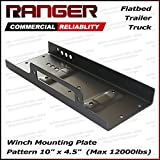"Ranger 10"" x 4.5"" Winch Mount Plate 12,000 Lb Capacity for Recovery Winches by Ultranger"
