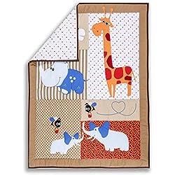 Dream On Me Jungle Babies Reversible 5 Piece Portable Crib Set