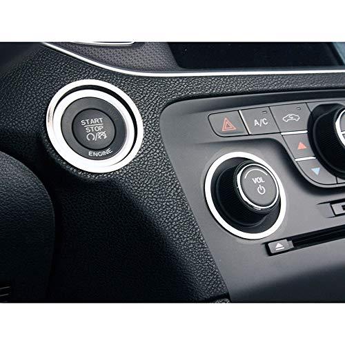 Elite Auto Chrome Acc Start/Volume/Tuner Dash Trim Rings fit for 2011-2013 Dodge ()
