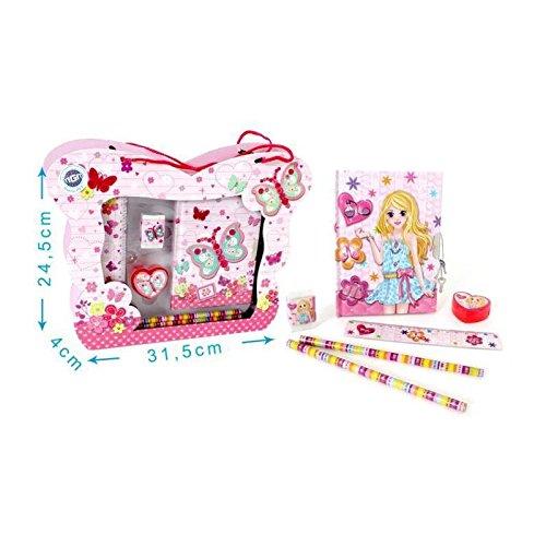 MGM 030153l Set Papelerí a Cuaderno Secreto Dé cor Unicornio o Cupcake –  Modelo Aleatorio CHINA TOYS