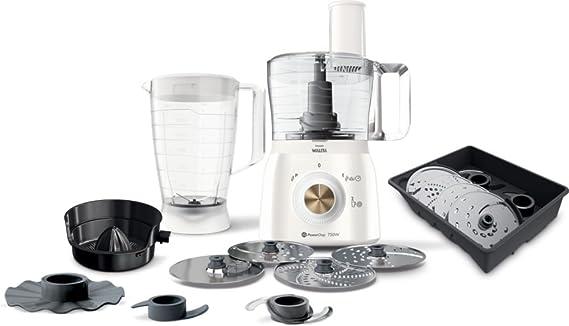 Philips Walita Viva Collection RI7636/01 - Robot de cocina (1,3 L, Oro, Blanco, Giratorio, 1,12 m, Brasil, 4 discos): Amazon.es: Hogar