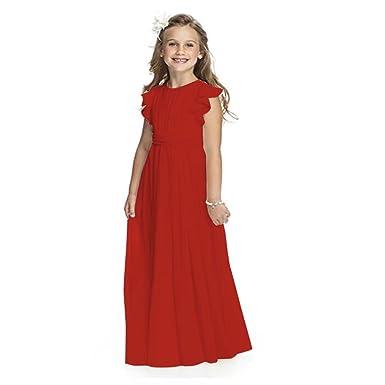 406dd17b15c8d Angel Dress Shop Flower Girl Dress First Communion Chiffon Flutter Sleeves  Pageant Wedding Dress